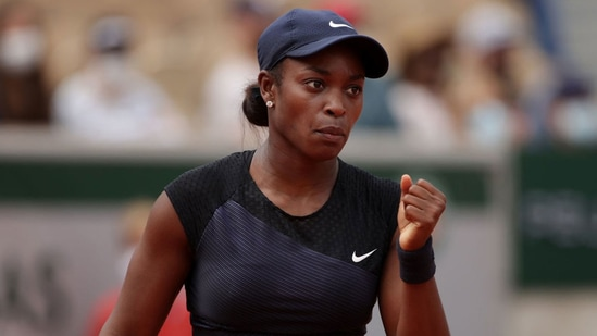 Sloane Stephens emerged victorious. (Twitter)