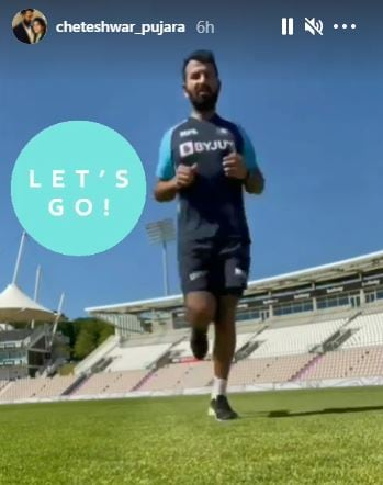 Pujara posted the video as his Instagram story