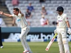 Tim Southee (left) and Rory Burns in action during the 1st Test.(Getty Images)