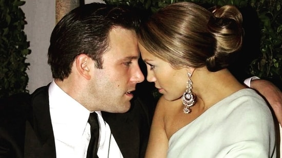 An old photograph of Ben Affleck and Jennifer Lopez from when they were engaged.(Instagram)