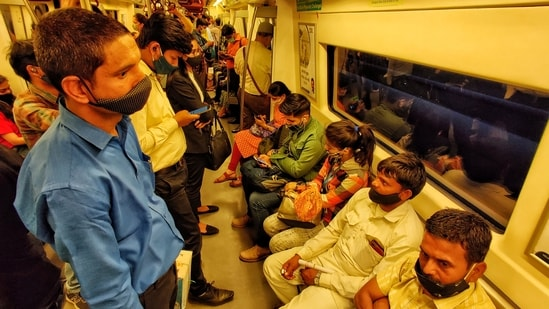 The CM announced the stopping of Delhi metro services on May 10 when the city-state entered a stricter lockdown.(Sanchit Khanna/HT file photo)