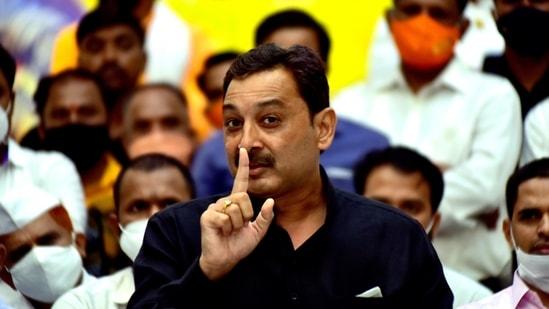 Descendant of Chhatrapati Shivaji Maharaj and Rajya Sabha MP Sambhajiraje Chhatrapati gave an ultimatum to the Maha Vikas Aghadi government and raised several demands over Maratha quota. (Anshuman Poyrekar/HT Photo)