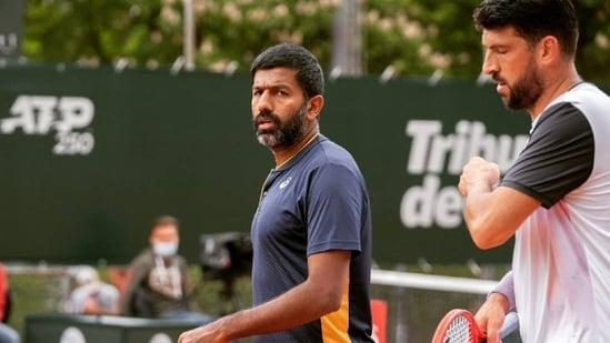 India's Rohan Bopanna (L) and his Croatian partner Franko Skugor (R)(Twitter)