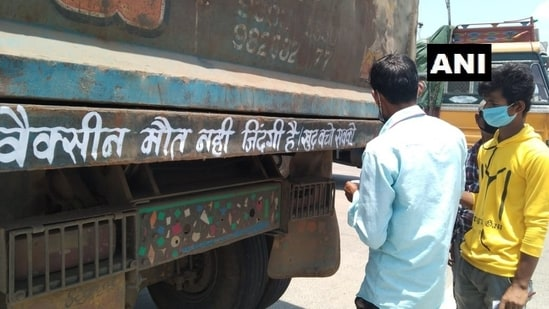 As these vehicles keep running to different places in urban as well as rural parts, people can easily get to see these messages written on them.(Twitter/@ANI)
