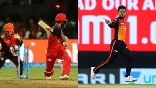 Rashid Khan (R) speaks about his most memorable T20 wickets(HT Collage)