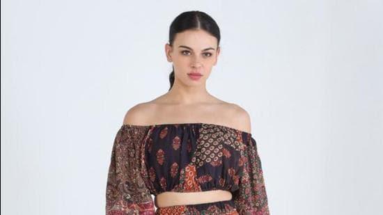Patchwork dress by designer Shruti Sancheti