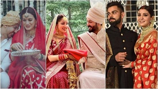 Before Yami Gautam, Anushka Sharma and Dia Mirza wore the traditional red saree for their wedding