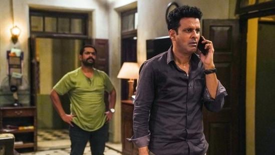 Sharib Hashmi and Manoj Bajpayee in The Family Man 2.