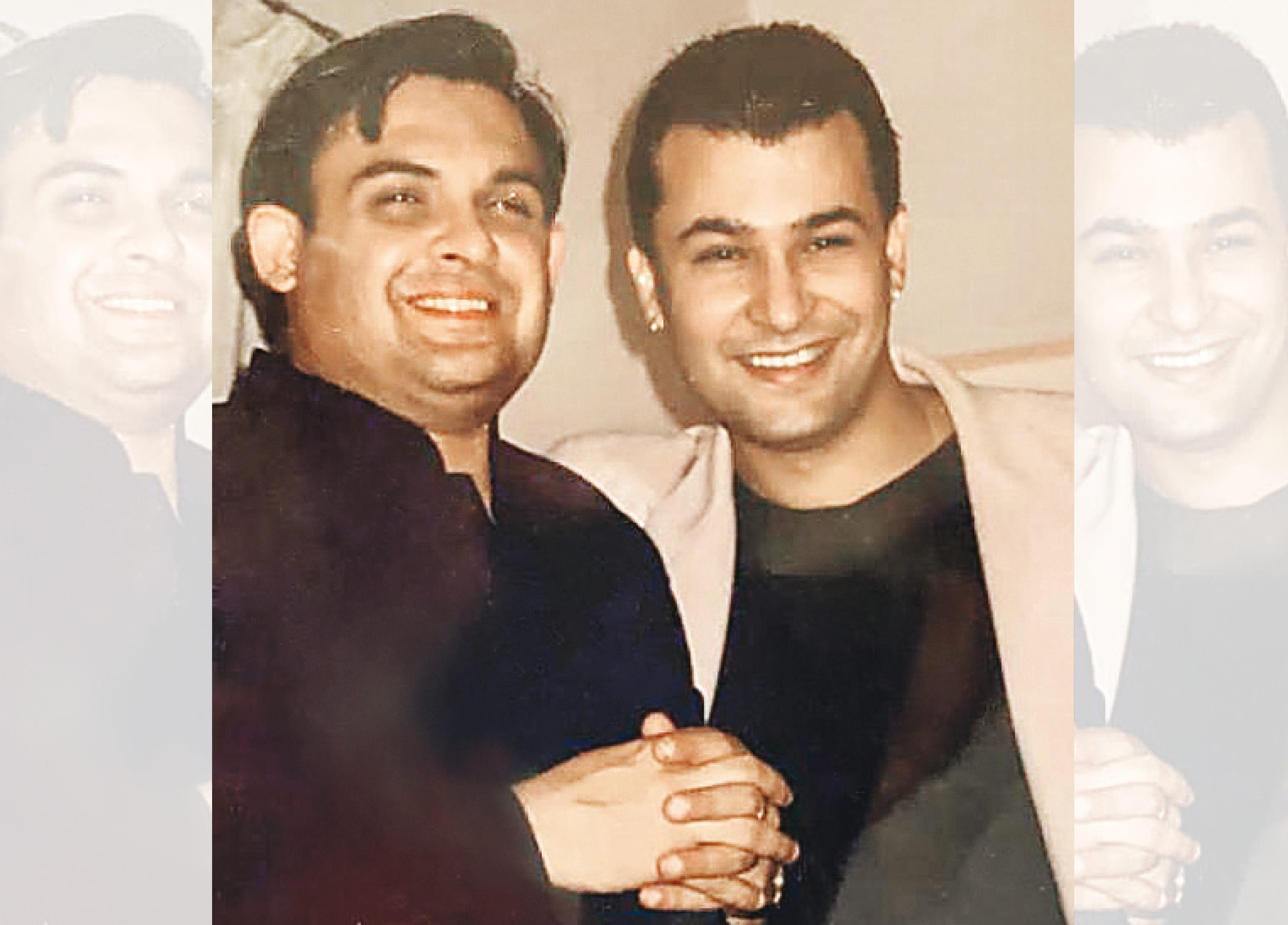 Ashish (right) with his friend and restaurateur (left) Marut Sikka