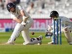 England's Joe Root plays a shot.(AP)