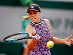Sofia Kenin of the U.S. in action during her fourth-round match against Greece's Maria Sakkari(REUTERS)