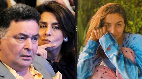 Alia Bhatt reacts to Neetu Kapoor's latest Instagram post.