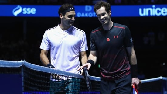 File Photo of Roger Federer and Andy Murray (right).(Getty Images)