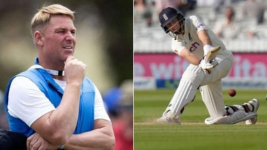 Photos of former Australian spinner Shane Warne (L) and England's Test captain Joe Root (R)(HT Collage)