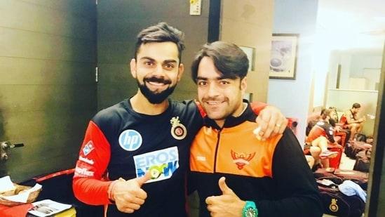 File image of Virat Kohli and Rashid Khan.(Rashid Khan/Twitter)