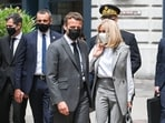 A bystander slapped Emmanuel Macron across the face during a trip to southeast France on June 8 on the second stop of a nation-wide tour.(AFP)