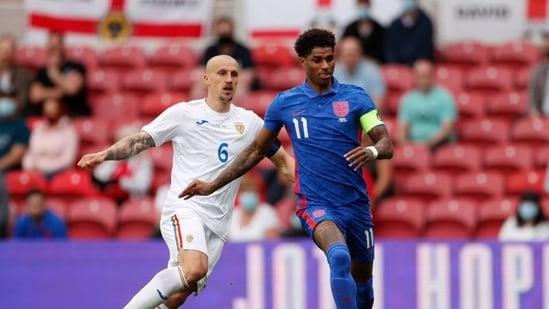 File Photo: England's Marcus Rashford in action.(Pool via REUTERS)