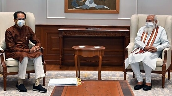 Maharashtra chief minister Uddhav Thackeray also met the Prime Minister for an one-on-one meeting which lasted for 30 minutes. (ANI Photo)