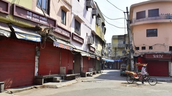 Covid-19 lockdown has been imposed in Telangana till June 19.(HT Photo)