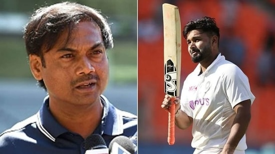 Former chief selector MSK Prasad speaks about evoloution of Rishabh Pant(HT Collage)