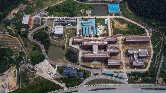 A file photo taken on May 27, 2020 shows the P4 laboratory (centre, left) on the campus of the Wuhan Institute of Virology in Wuhan in China's central Hubei province. (AFP)
