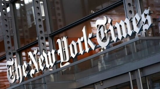 Websites operated by news outlets including the New York Times, Financial Times, the Guardian and Bloomberg News also faced outages. (AP Photo/Mark Lennihan, File)(AP)