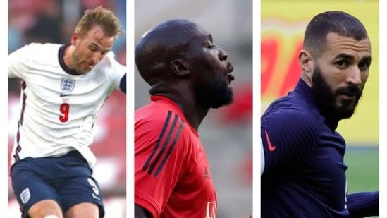 Harry Kane, Romelu Lukaku and Karim Benzema.(File)