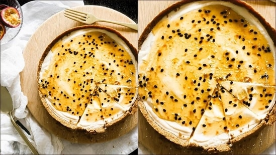 Recipe: Life tastes better after a slice of Lemon passion fruit cheesecake(Instagram/abiteofvegan_)