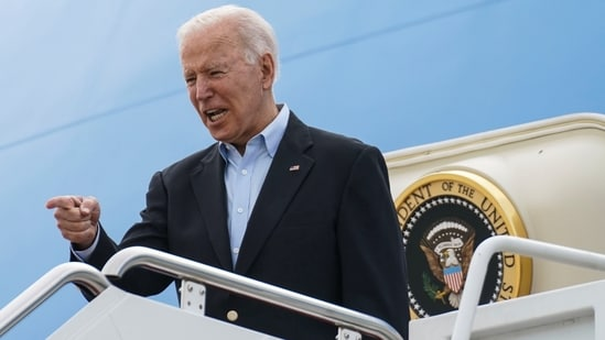 President Joe Biden was set to make the announcement Thursday in a speech before the start of the Group of Seven summit.(Reuters)