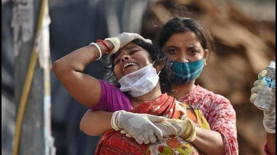Patna has the highest number of widows due to Covid-19 at 176, followed by West Champaran (153), Begusarai (110), Muzaffarpur and Rohtas (95 each). (HT PHOTO.)
