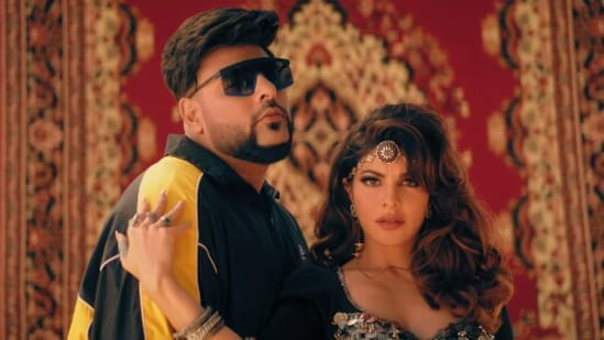 Jacqueline Fernandez and Badshah in their new music video Paani Paani.