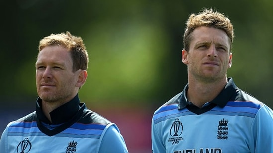 Eoin Morgan (L) and Jos Buttler during the 2019 World Cup. (Getty Images)