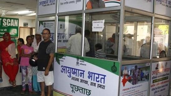 The Ayushman Bharat Pradhan Mantri Jan Arogya Yojana was launched in September, 2018.(Representative image/Yogendra Kumar, HT)