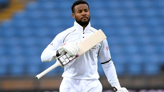 Shai Hope during a Test series against England. (Getty Images)
