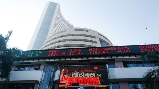 L&T was the top loser in the Sensex pack, shedding around 2 per cent, followed by Reliance Industries, Bajaj Finserv, IndusInd Bank, SBI, Maruti, Axis Bank and Bajaj Auto.(File Photo)