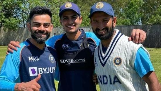 Virat Kohli, Shubman Gill and Cheteshwar Pujara(Kohli/Instagram)