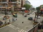 Vehicles rush at Dak Bungalow road in Patna amid the coronavirus pandemic in Bihar, India on Wednesday, June.09, 2021. (Photo by Santosh Kumar /Hindustan Times)