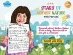 Parnika's 'Stars of Mother Nature' initiative is inspiring kids to write about the environment, nature, and recycling.(Graphic via 'The Happy Moms Cafe' blog)
