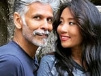 Ankita Konwar and Milind Soman tied the knot in 2018 in Mumbai.(Instagram/@milindrunning)