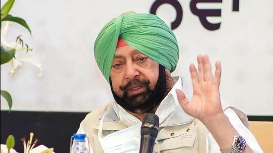 Punjab chief minister Captain Amarinder Singh. (HT FILE)