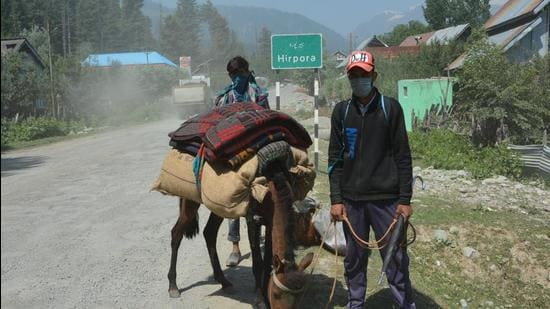 Village Hirpora is situated on the historical Mughal road in Shopian district which has lowest positivity rate in the whole district, the people there are strictly following all the SOPs and other guidelines. (Shopian Information dept)