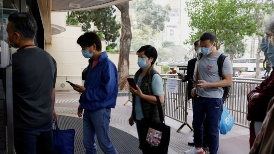 Hong Kong considers to shorten hotel quarantine periods for some fully vaccinated inbound passengers.(Reuters File Photo )
