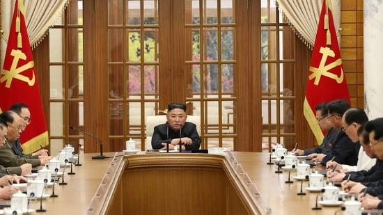 North Korean leader Kim Jong Un during his latest appearance (via REUTERS).