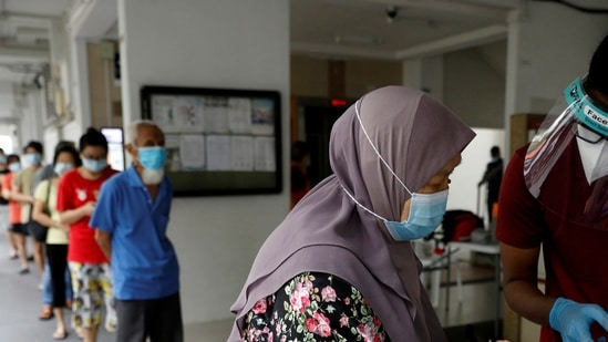 The country's daily virus count has dropped to the single-digit range since lockdown-like restrictions such as smaller group sizes and the ban on dining-in were imposed in mid-May(Reuters file photo)