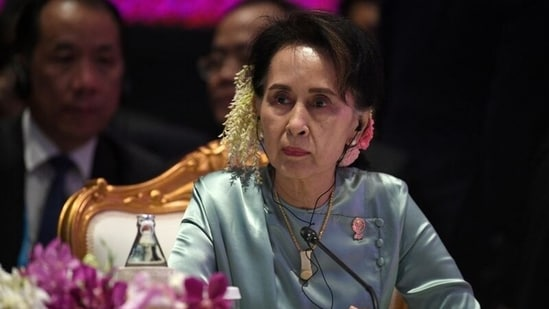 Cases Aung San Suu Kyi already faced ranged from violating coronavirus protocols while campaigning and illegally possessing walkie-talkie radios to breaking the Official Secrets Act.(Reuters File Photo)