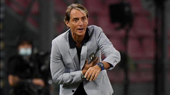 Manager of the Italian football team Roberto Mancini. (REUTERS)