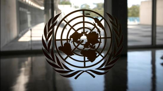A file photo of the United Nations logo at the UN headquarters in New York, US. (REUTERS)