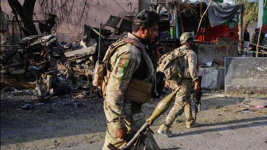 India on Thursday said the country is in contact with authorities in Afghanistan in an attempt to work for the development and reconstruction of the war-torn country. (Image used for representation). (AFP PHOTO.)