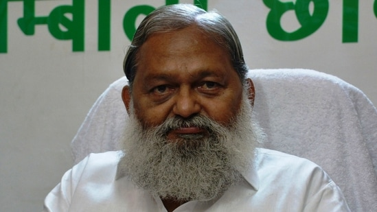 Anil Vij's comments came a day after Union agriculture minister Narendra Singh Tomar said that the Union government is ready to resume talks with the protesting unions and hear their objections.(HT File Photo)
