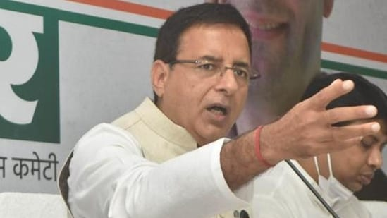 Congress leader Randeep Singh Surjewala claimed that there has been an almost 20 per cent rise in farm input rates and diesel prices.(HT File Photo)